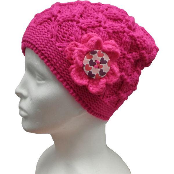 Dětská zimní čepice CAPU D18925 růžová