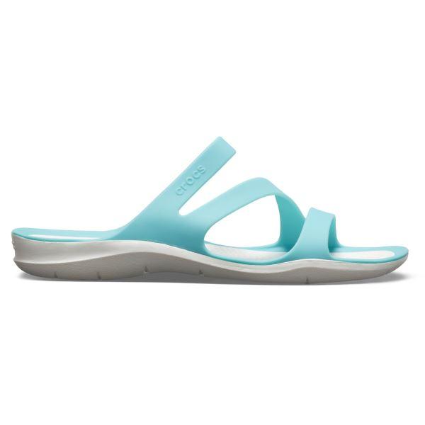 Dámské pantofle Crocs SWIFTWATER Sandal W modrá/bílá