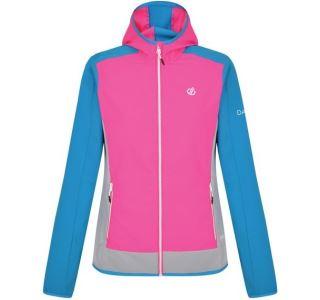 Dámská softshellová bunda Dare2b DUALITY II modrá/růžová