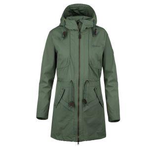 Dámský kabát KILPI PAU-W khaki (nadměrná velikost)