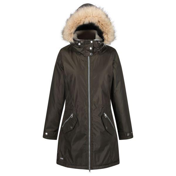 Dámský zimní kabát Regatta LEXIA tmavá khaki