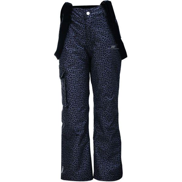 Dětské zimní lyžařské kalhoty 2117 TÄLLBERG šedá AOP