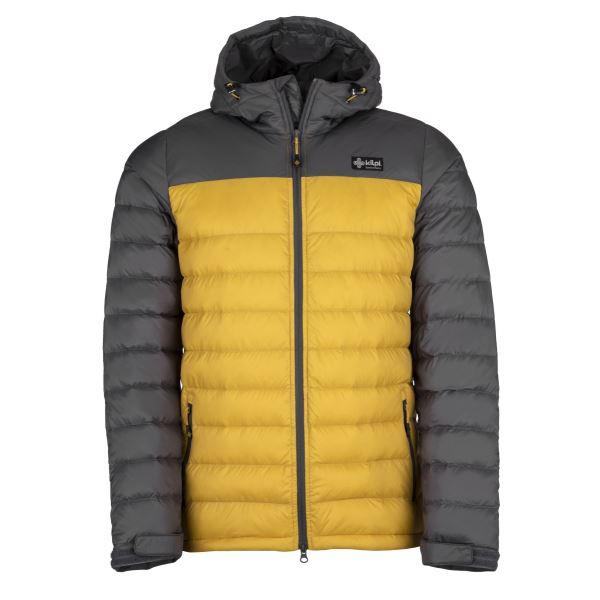 Pánská lehká péřová bunda KILPI SVALBARD-M žlutá