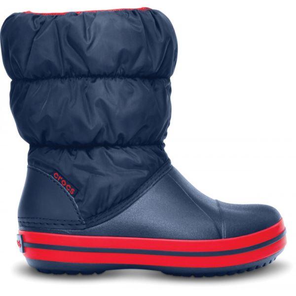 Dětské zimní boty Crocs WINTER PUFF BOOT tmavě modrá/červená