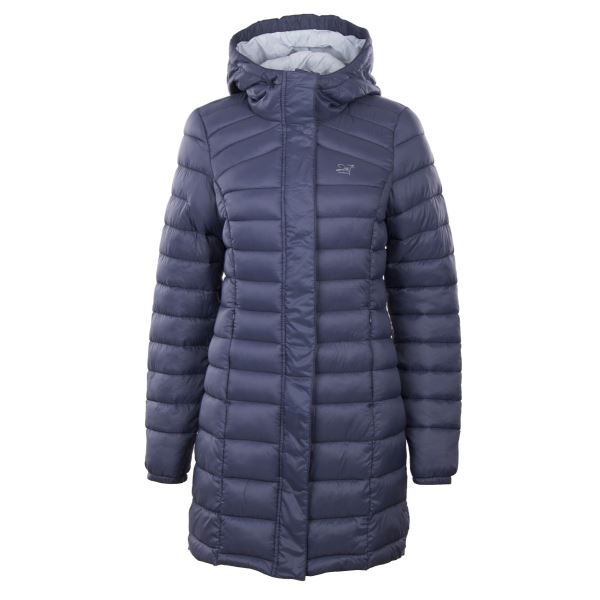 Dámský zimní kabát 2117 DALEN šedomodrá