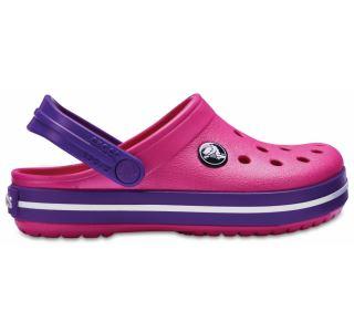 Dětské boty Crocs Kids' Crocband™ Clog tmavě růžová/fialová