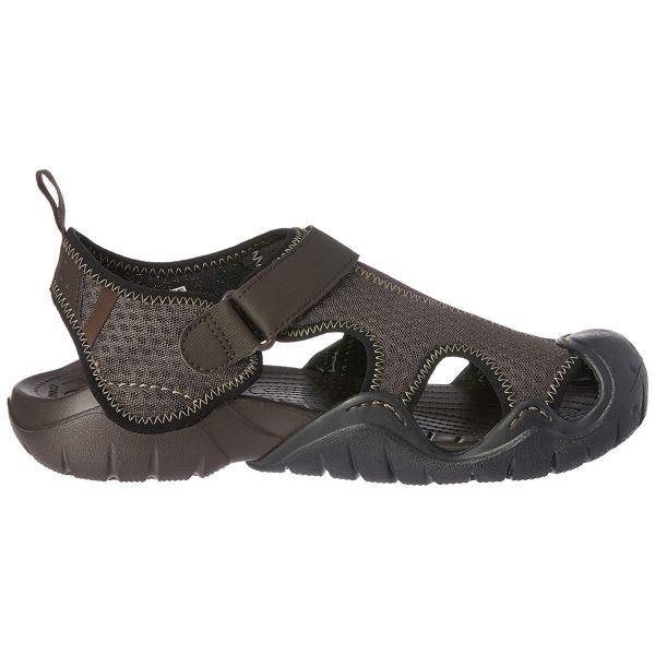 Pánské boty Crocs Swiftwater Sandal hnědá