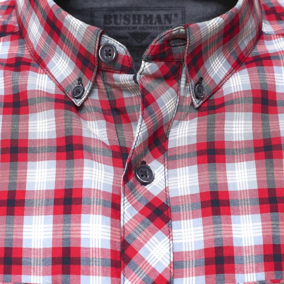 Pánská košile BUSHMAN GRESHAM červená  b23ce8ad52