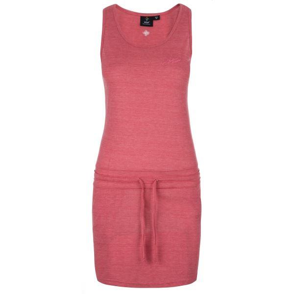 Dámské šaty KILPI MAZAMET-W růžová