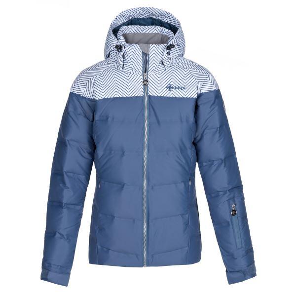 Dámská zimní péřová bunda KILPI BUFFY-W modrá