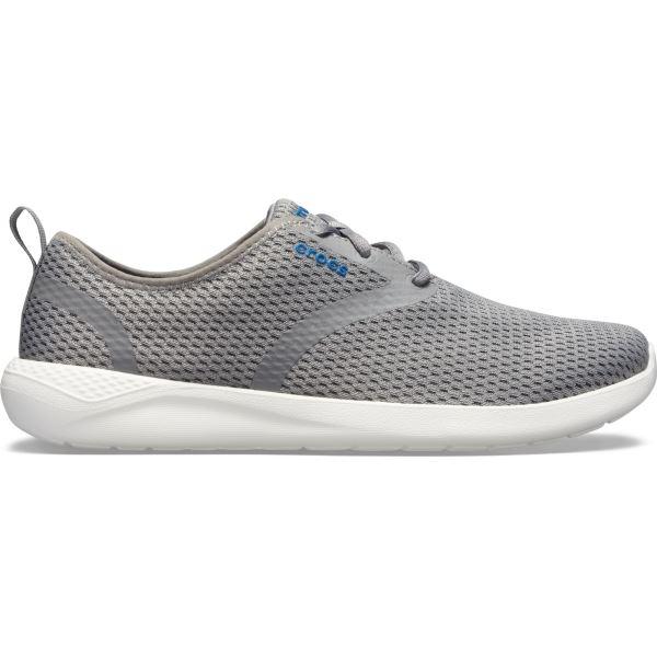 Pánské boty Crocs LiteRide Mesh Lace M světle šedá/bílá