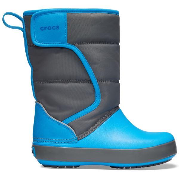Dětské zimní boty Crocs LODGEPOINT Snow Boot K šedá/modrá