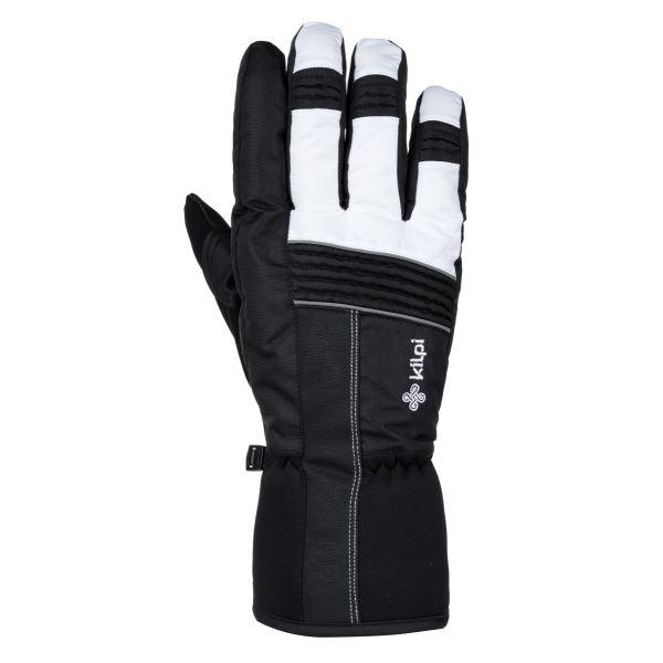 Zimní lyžařské rukavice KILPI GRANT-U bílá