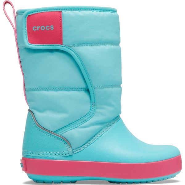 Dětské zimní boty Crocs LODGEPOINT Snow Boot K modrá/růžová