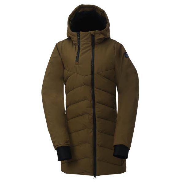Dámský zateplený kabát 2117 ELLANDA zelená