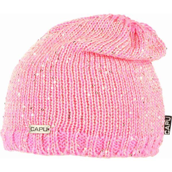 Dámská zimní čepice CAPU 428 světle růžová