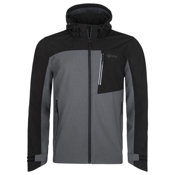 Pánská softshellová bunda KILPI RAVIO-M tmavě šedá