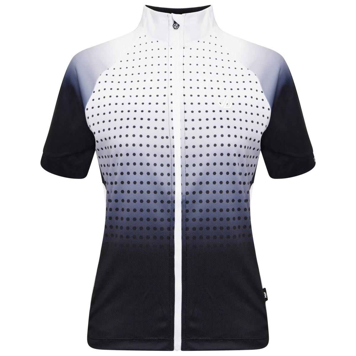 Levně Dámský cyklistický dres dare2b propell černá/bílá 40