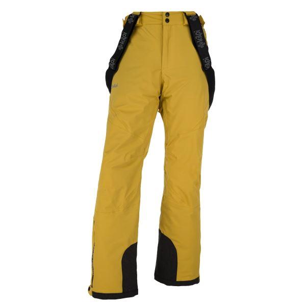 Pánské zimní lyžařské kalhoty KILPI METHONE-M žlutá