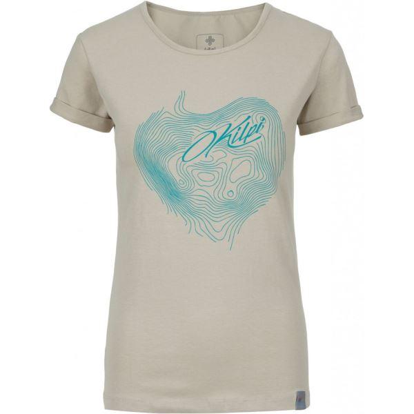 Dámské tričko KILPI YANI-W béžová