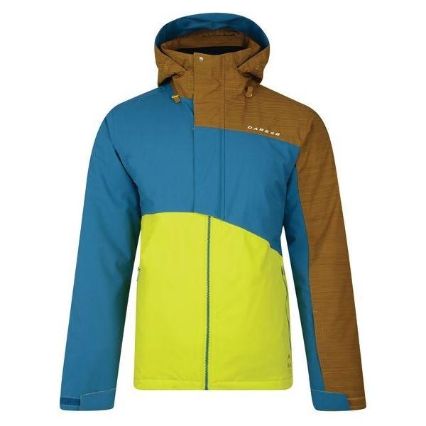 Pánská zimní lyžařská bunda Dare2b HURL DOWN žlutá/modrá