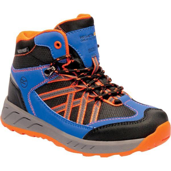Dětské boty Regatta SAMARIS Jnr modrá/oranžová