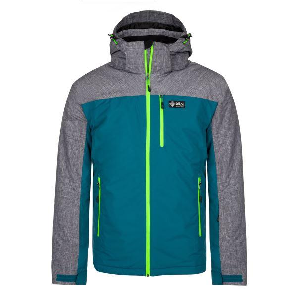 Pánská zimní lyžařská bunda KILPI FLIP-M tyrkysová