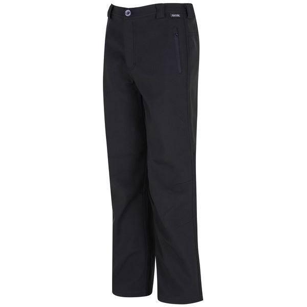 Dětské softshellové kalhoty Regatta FENTON černá