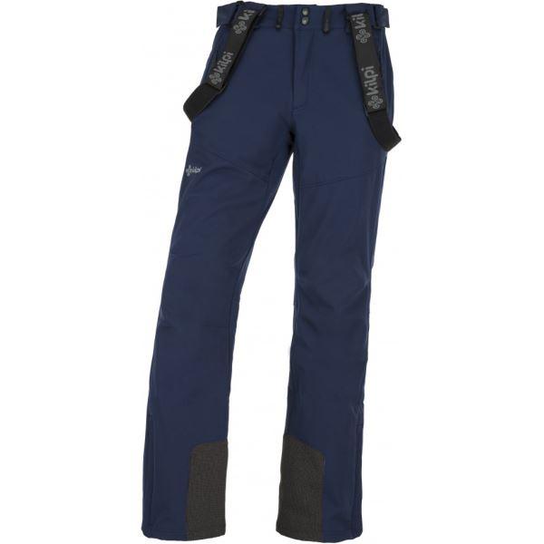 Pánské lyžařské softshellové kalhoty KILPI RHEA-M tmavě modrá