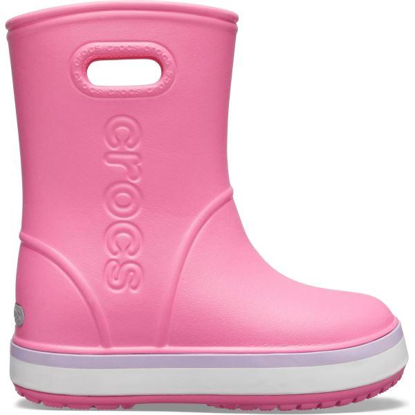 Dětské holínky Crocs CROCBAND Rain Boot K růžová