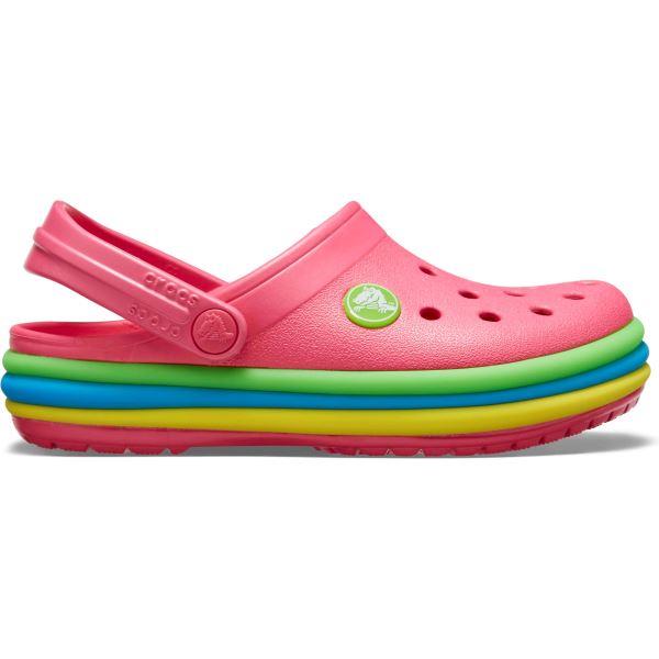 Dětské boty Crocs CB Rainbow Band Clog růžová