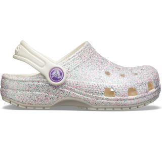 Dámské boty Crocs Classic Glitter Clog bílá