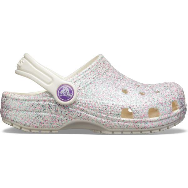 Dětské boty Crocs Classic Glitter Clog bílá