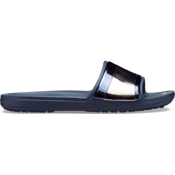 Dámské pantofle Crocs SLOANE MetalBlock tmavě modrá
