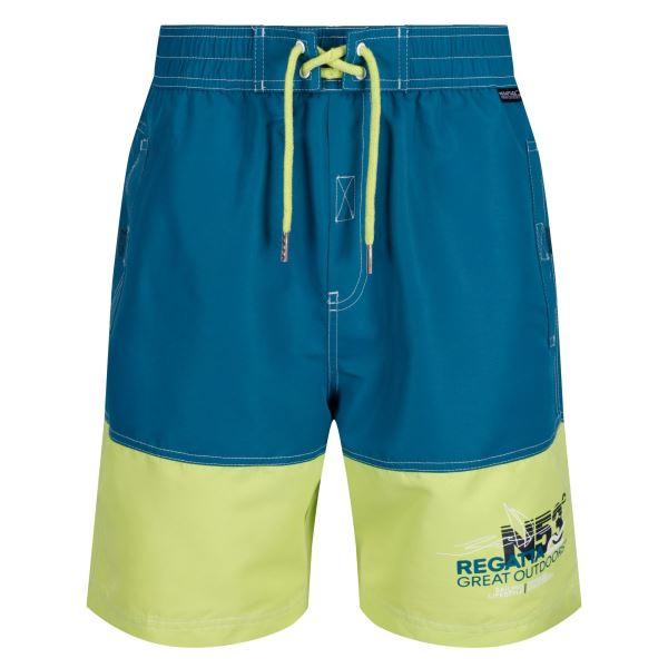 Pánské šortky Regatta BRATCHMAR III modrá/žlutá