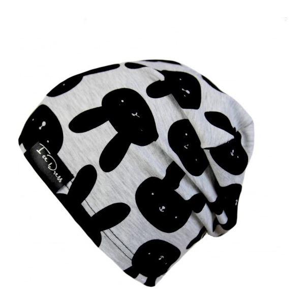 Dětská bavlněná čepice IceDress ZAJDA III šedá/černá