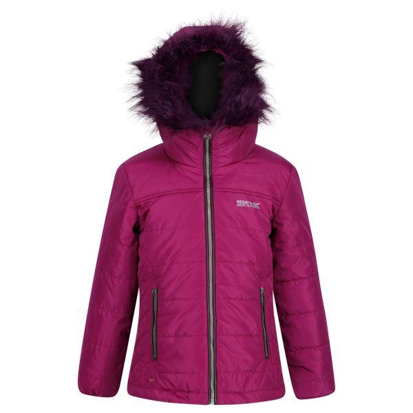 Dětská zimní prošívaná bunda Regatta WESTHILL BEETROOT fialová