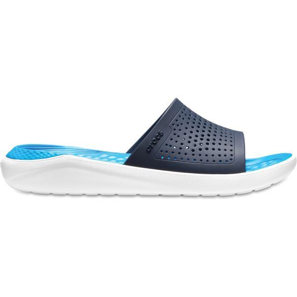Unisex pantofle Crocs LiteRide Slide tmavě modrá/bílá