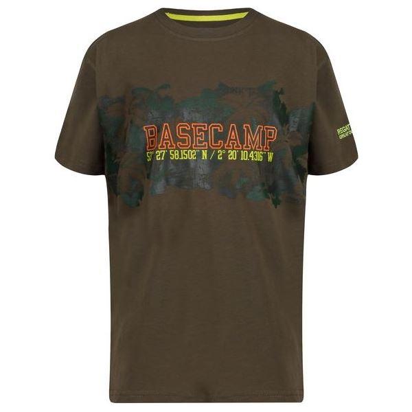 Dětské tričko Regatta BOSLEY II tmavě zelená