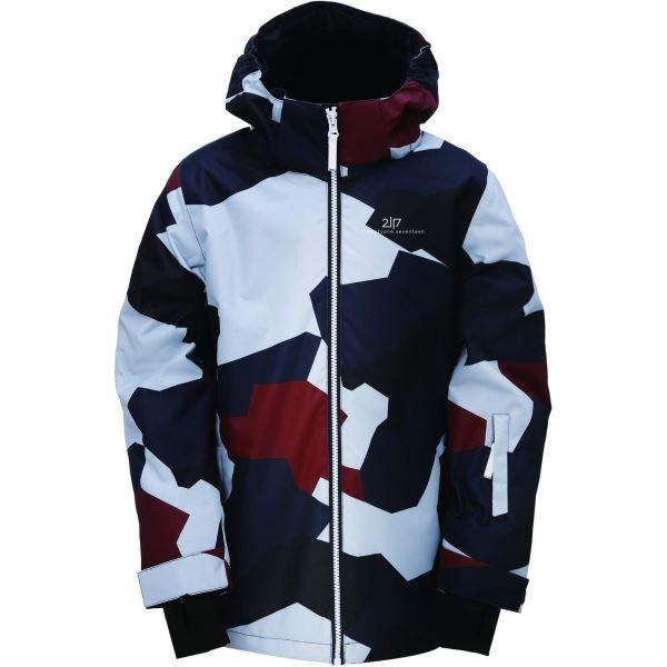 Dětská zimní lyžařská bunda 2117 TÄLLBERG šedá/modrá