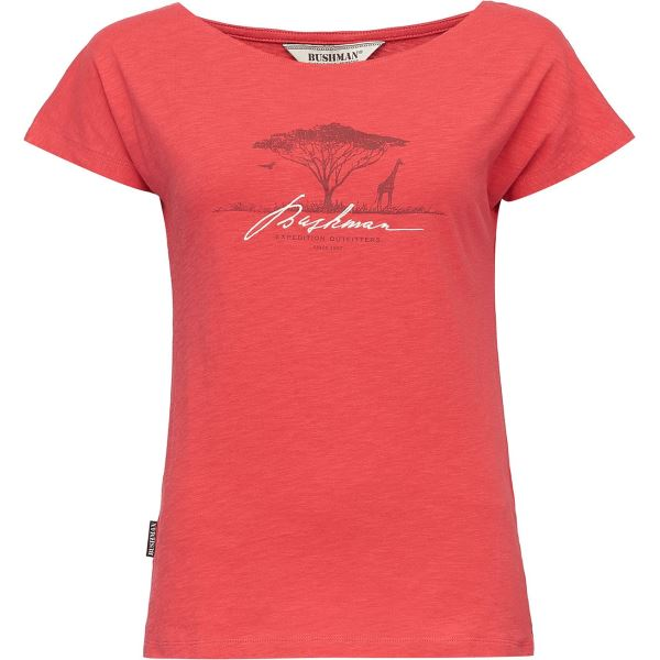 Dámské tričko BUSHMAN BOGALUSA červená