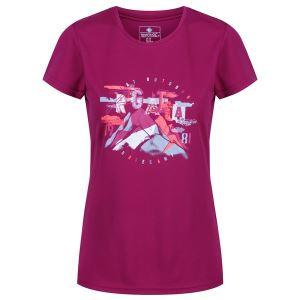 Dámské tričko Regatta FINGAL IV vínová