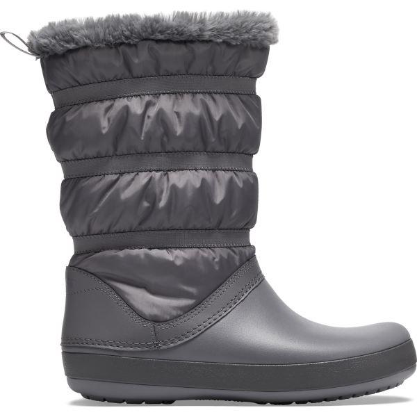 Dámské zimní boty Crocs CROCBAND Winter Boot šedá