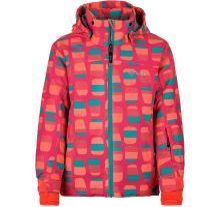 Dětská zimní lyžařská bunda KILPI GENOVESA-JG tmavě růžová  (kolekce 2019)