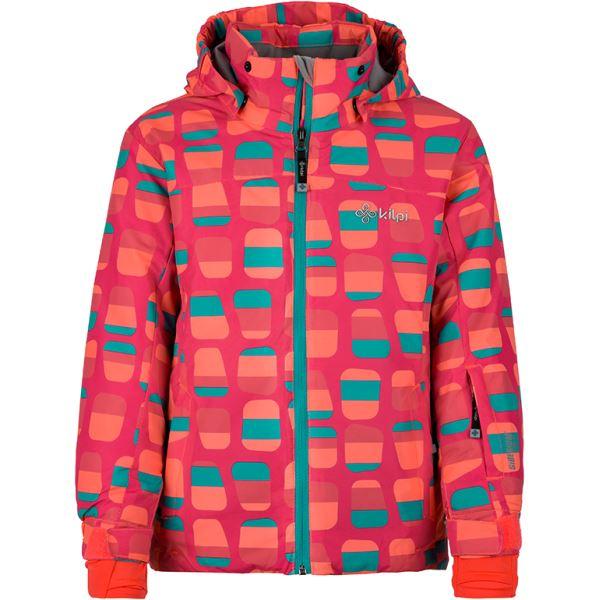 Dětská zimní lyžařská bunda KILPI GENOVESA-JG tmavě růžová