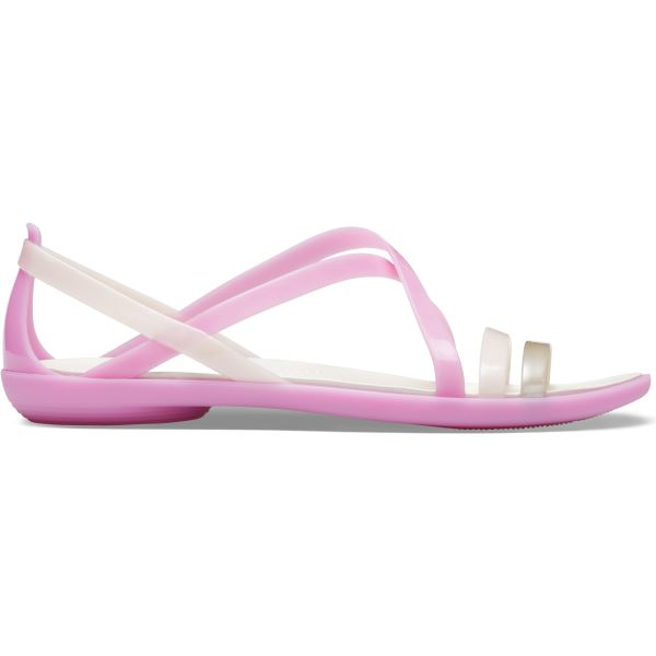 Dámské sandály Crocs Isabella Strappy Sandal růžová/bílá