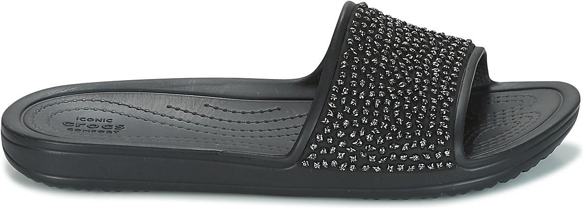 f768994a6c92 Dámské pantofle Crocs Sloane Embellished Slide černá