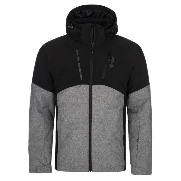Pánská zimní lyžařská bunda KILPI TAUREN-M tmavě šedá