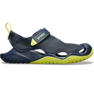 Pánské boty Crocs Swiftwater Mesh Deck Sandal tmavě modrá/zelená
