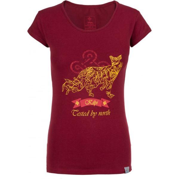 Dámské tričko KILPI FOXY-W tmavě červená